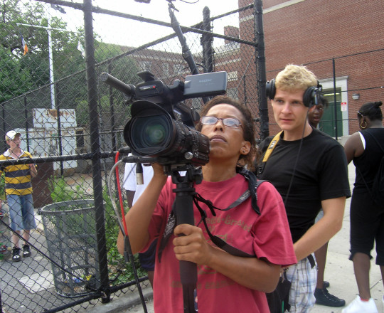 Rachele Magloire on location of her documentary Deported