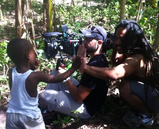 On the set of Papa Machete with Jonathan David Kane - Vive Papa Avril