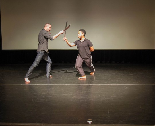 Machete fencing with Producer Jason Fitzroy Jeffers