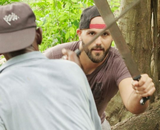 Director Jonathan David Kane on location in Haiti - Papa Machete